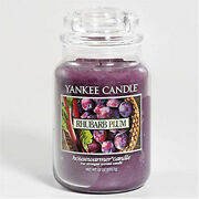 Yankee Candle - Rhubarb Plum - 22 Oz - Great Fruit Scent - Hard To Find