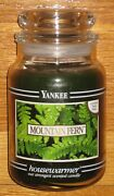 Yankee Candle - 22 Oz - Mountain Fern - Black Band - Rare And Hard To Find