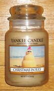 Yankee Candle - 2014 Christmas In July - 22 Oz - Village Exclusive - Rare