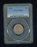 1912-p Liberty Nickel/v-nickel 5c Pcgs Ms 65 Type 2 With Cents Rare High Grade