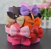 Pets New Fashion Collar Cute Puppy Cat With Butterfly Knots Necklace Accessories