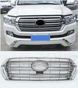 Chrome Front Bumper Grill Grille Fit For Toyota Land Cruiser Fj200 Lc200 2016+