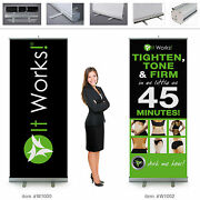 It Works Global Wraps Retractable Banner 7ft Tall 2 Banners