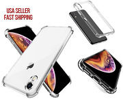4new Iphone Xs Max Clear Thin Silicone Shockproof Tpu Bumper Protective Case Lot