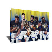 Warriors Hamptons Five 5 Kevin Durant Steph Curry Photo Poster Paint Canvas Art