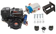 Electric Start Log Splitter Build Kit 9 Hp Eng Mated To 16 Gpm Pump W/ Hardware