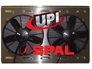 12 Dual Hp Spal Fans On Aluminum Shroud W/ Louvers 25.875 X 18.375 -made Usa