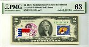 2 Dollars 1976 First Stamp Cancel Christmas Winter Holiday Lucky Money 3000