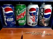 Star Warsandtrade Pepsi Promotional Pack Sample Set Uncirculated Can Collection Display