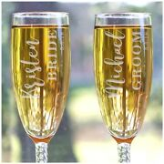Personalized Wedding Gifts Engraved Bride And Groom Flute Set Pg85127410