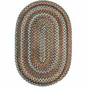 Wool Area Rugs Braided Rug Country Cottage Farmhouse Green Blue Beige Orange