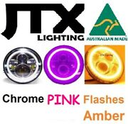 Jtx 7 Led Chrome Lights Pink Suzuki Sierra Sj80 Sj80v Lj80 Flashes Amber