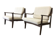 Pair Of Mid-century Modern Arm Chairs Accent Chairs