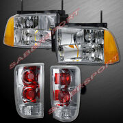 Combo Set Euro Clear Composite Type Headlights + Taillights For 1995-1997 Blazer