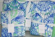 New Pottery Barn Lilly Pulitzer Quilt And Shams Oh Shello And Deep Dive Full Queen