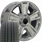 Oew Fits 20x8.5 Wheel Tire Chevy Tahoe Chrome Rims W/tires 5416