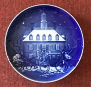 Bing And Grondahl Plate 1st In Christmas In America Series 1986 Williamsburg