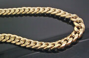 Real 10k Cuban Gold Chain Necklace 22 Inch 9mm Box Lock Strong Link Rope