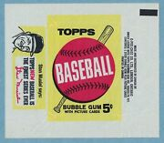 1963 Opc Baseball Card Wrapper 5 Cent Musial Extremely Rare High Grade Example