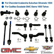 13 Pcs Front Suspension Kits Ball Joint Tie Rod End Sway Bar Pitman And Idler Arm