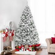 White Christmas Tree Vintage Stand Artificial Holiday Season Snow Decoration New