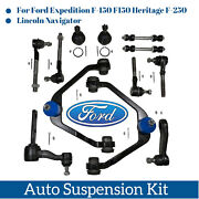 12pc Suspension Parts Front Upper Control Arm Lower Ball Joint For Ford Lincoln
