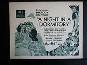 1930 A Night In A Dormitory - Title Lobby Card - Ginger Rogers - Short - Musical