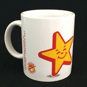 Vtg Hardees Star Coffee Cup Mug Good Morning Made From Scratch Biscuits 90s Food