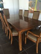 Classic Parsons Style Henredon Dining Table And Chairs