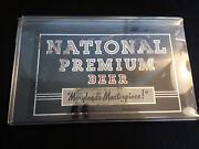 Vtg Collectible Mirrored National Premium Beer Sign Imperfect