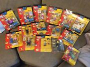 15 Simpsons Playmates Figures Lot With All Accessories+ Exclusive Pin Pal Moe