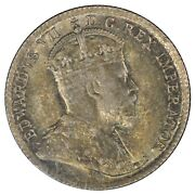 1907 Canada 5 Cent Silver Half Dime - Iccs Ms64 Toning - See Photos