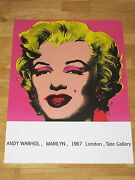 Andy Warhol Poster - Marilyn Monroe 1967 London Exhibition Poster