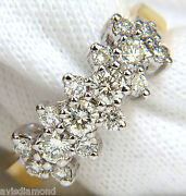 18kt 1.00ct Diamonds Cluster Band Ring Excellent Cuts+