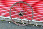 Large Antique Wagon Tractor Wheel Metal 16 Spoke 37 Tall Country Americanadecor