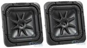 2 Kicker L7s84 8 1800w Solobaric L7s Car Audio Subwoofers Solo-baric Package