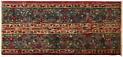 Antique Indian Agra Decorative Rug In Small Runner Size With Free Shipping