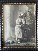 Exceptional Antique 8 X 10 Silver-gelatin Photo In Great Frame. Perfect