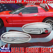 1997-2004 Chevy Corvette Chrome 2 Door Handle Covers Nopsk Style 1 See Picture