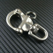 2.6 316 Stainless Steel Jaw Swivel Snap Shackle Sailing Boat Yacht