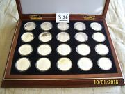1997 Cook Islands 50 Silver .925 Proof Millennia Coin Collection + Display Case