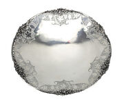 Coopers Brothers And Sons Ltd Sheffield Sterling Silver Pierced Pedestal Dish,1949