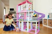 Barbie Dreamhouse Doll House 3 Story Dollhouse 8 Rooms Lights Sounds 3 H X 4 W