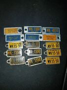 Vintage Lot Of Dav Mini License Plate Keychains New York Empire State Lot Of 15
