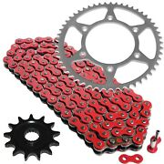 Red Drive Chain And Sprocket Kit For Honda Cr125r 1987-1996 1998 1999 2002