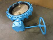 Grinnell Lc-82826da Bronze Seat 18 Inch Butterfly Valve W/ Ma46 Manual Actuator