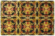 Antique European Decorative Needlepoint Carpet In Small Size
