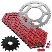 Red Drive Chain And Sprocket Kit For Yamaha Fz6 Fz6s 2004-2009 530-chain Type