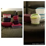 New Tupperware Lot Host Prep Set With Stuffable Bowls Rice Cooker Burger Press