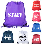 Event Staff Drawstring Backpacks Crew Bags For Emergency Kits And Water Bottles